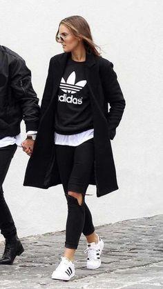 huge selection of 6ccf5 e6859 En esta colección de outfits Adidas de mujer podrás encontrar tu estilo  perfecto. Black Adidas