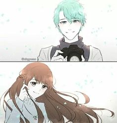 I feel like his route would be them stopping Rika before she could damage his eyes so he's not blind. I feel as if that would be very appropriate.