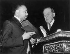 MLK receiving the Nobel prize award in Stockholm, Sweden