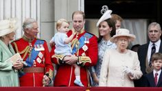 Prince George at his first official British appearance