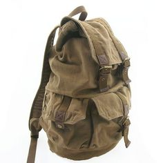 Waxed Canvas Back pack..