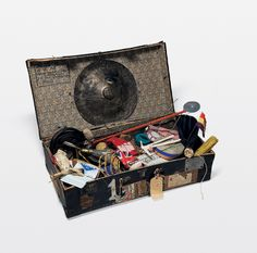 Alexander Calder, Suitcase filled with elements from Calder's Circus, 1926–31  83.36.65a-c