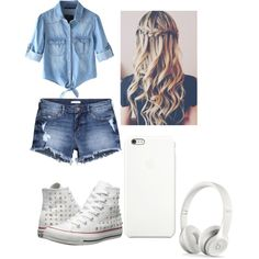 out with friends by aulonamx on Polyvore featuring polyvore fashion style Chicnova Fashion H&M Converse