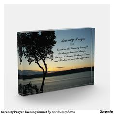 Serenity Prayer Evening Sunset Photo Block