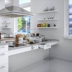 Rise and Fall Worktop Systems | Accessibility Kitchens | Granberg Interior AB Sweden