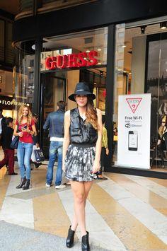 #fashion #fashionista Irene nero bianco Irene's Closet - Fashion blogger outfit e streetstyle: 8 outfit, 2 città: le foto degli eventi Guess di Milano e Firenze!