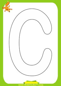 Kids Under 7: Alphabet Coloring Pages