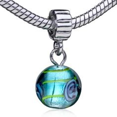 Pugster Murano Glass Bead Dangle Turquoise Bead Fit Pandora Charm Bracelet $0.49 #topseller