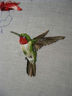 Peinture à l'aiguille réalisée par Véronique