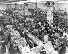 Christmas shoppers at Woolworths, Coventry 1957 Art Print by Mirrorpix Easyart.com