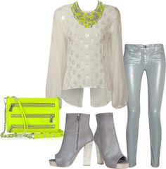 """""""NEON FROST"""" by patigshively ❤ liked on Polyvore"""