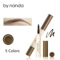 Mode Pensil Alis Mata Alis Dye Krim Pomade Naungan untuk alis Tahan Lama Tahan Air Warna Make up Kit ABH Makeup Brushes