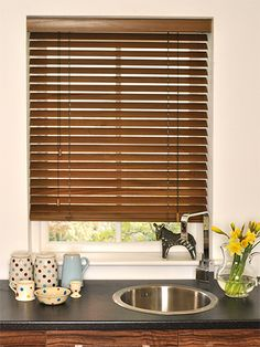 Dark Laurel Wooden Blind - available in 35mm and 50mm slats, this rich wooden blind will be an excellent addition to your home to make a statement at your window. #blinds #wooden #venetian