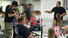 Phillippe Morgese has started a workshop to teach dads how to style their daughters hair.