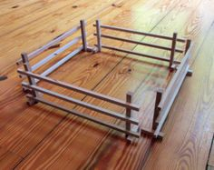 Corral Fencing, Paddock Fence, 4 Sections, use with Model Horse displays, Model Barn s, All Wood