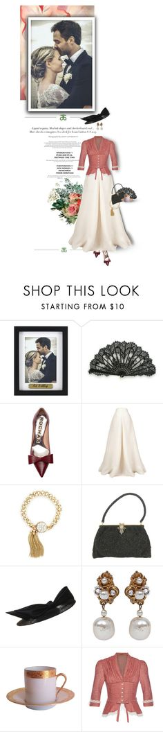 """Happy Valentine's Day!"" by sammy-andrada ❤ liked on Polyvore featuring O'Keeffe, Fetco, Rochas, Esme Vie, Miriam Haskell, Raynaud and Lena Hoschek"