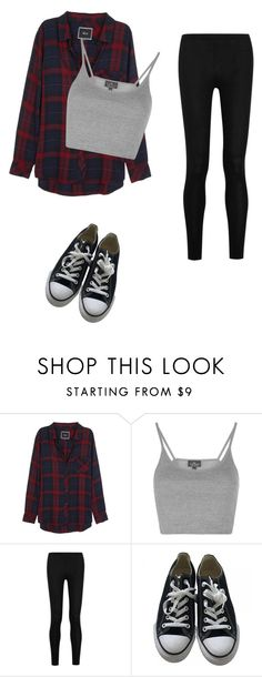 """Untitled #42"" by joslynnkenworthy on Polyvore featuring Rails, Topshop, Donna Karan and Converse"
