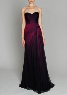 Sophisticated gown, gorgeous color