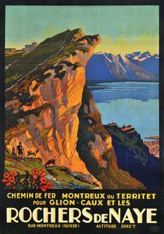 Chemin de Fer Montreux - Territet - Glion - Caux et les Rochers de Naye
