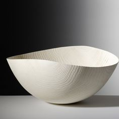 Friedemann Bühler | Bowl, bleached ash, brushed and sandblasted