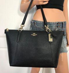 46f562b3fdc3 New Coach Zip Top Tote In Signature Shoulder Bag Purse. Women Handbags Ideas