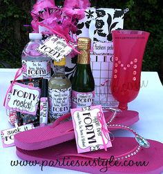 40th Birthday Party Gift Bag Items