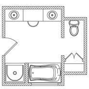 KOHLER | Floor Plan Options | Bathroom Ideas & Planning | Bathroom |