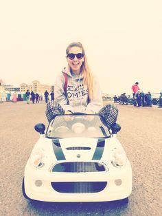 Zoe, in her ride.