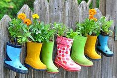 Boot planters--cute!