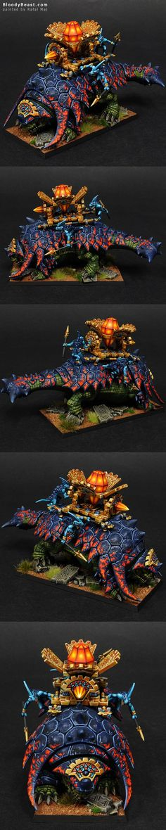 The Internet's largest gallery of painted miniatures, with a large repository of how-to articles on miniature painting Figurine Warhammer, Warhammer Figures, Warhammer Paint, Warhammer Models, Warhammer 40k Miniatures, Warhammer Fantasy, Lizardmen Warhammer, Warhammer 40000, Warhammer 40k Blood Angels