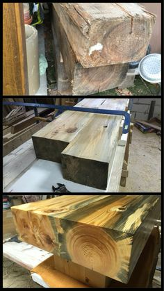 Reclaimed wood coffee table #DIY #coffeetable #reclaimed