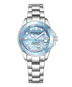 bdf62fa252 Stuhrling | Stainless Steel & Light Blue Aquadiver Bracelet Watch. Rolex  ÓrákKarkötő Óra