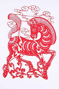 Chinese paper cutting — horse