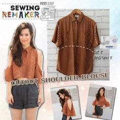 Diy Kleidung Refashion Shirts Upcycling Super Ideas, Source by upcycle Diy Clothes Refashion, Shirt Refashion, Thrift Store Refashion, Refashioned Clothes, Thrift Store Diy Clothes, Shirt Diy, Diy Tank, Diy Kleidung, Clothing Hacks