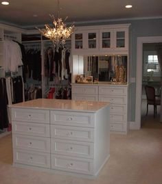 closet factory... lingerie/jewelry chest/hutch in closet with mirror and upper cabinets for purse/hat storage. Learn more: http://www.closetfactory.com/