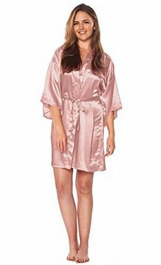Bride   Bridesmaid   Made of Honor Satin Night Robes Satin Kimono bd654137c