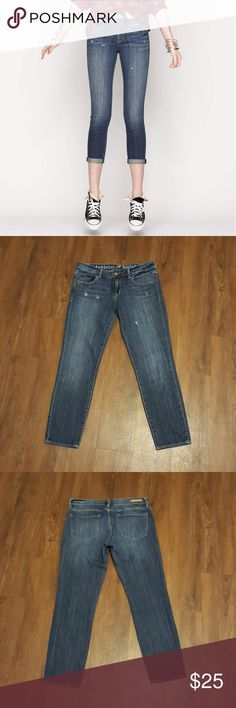 """Articles of Society Faith Rolled Crop Coachella These jeans are so cute and in great pre loved  condition! Distressed denim. Inseam measures 26"""". Waist laying flat is 14.5"""". Articles Of Society Jeans Ankle & Cropped"""