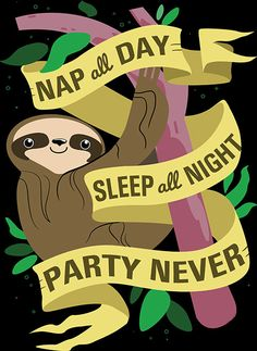 funny-sloth-nap-day-party