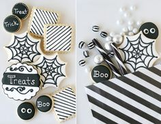 Glorious Treats » Black and White Halloween Dessert Table
