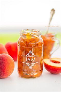 Jam Maker, Jelly Cupboard, Homemade Strawberry Jam, Peach Jam, Pots, Jam On, Bread Cake, Marmalade, Freshly Baked