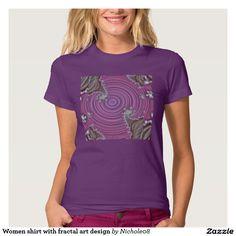 Women shirt with fractal art design