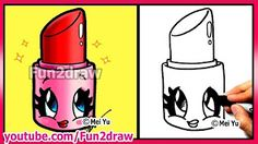 Coffee Cup with MUSTACHE - Easy Cartoon Drawing Tutorial - YouTube