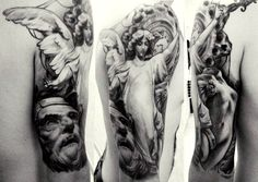 peace in realism from Elena Kovaleva #realismtattoo #tattoo #angeltattoo #angel