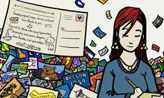¡Qué bonita iniciativa de Cafetera de Letras! ¿Os animáis a enviar una postal viajera?