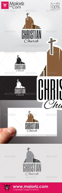 Christian Chruch Logo $29 :::::::::::::::::::::::::::::::::::::::::: Christian Church Logo  Logotype for your country, church or congregation.   Formtas:  ai / eps 8 / eps 10 / Jpg / Png   Include:  Colors logo / Grays / Black and White