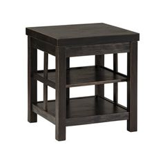 Signature Design by Ashley Gavelston Rubbed Black Square End Table - 17811490 - Overstock.com Shopping - Great Deals on Signature Design by Ashley Coffee, Sofa & End Tables