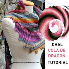 How to weave a dragon tail shawl step by step in text and video Crochet Skull, Crochet Lace, Free Crochet, Knitted Shawls, Crochet Scarves, Crochet Clothes, Shawl Patterns, Knitting Patterns, Crochet Patterns