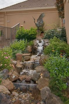 Water fountain in back yard of Napa Valley estate. Additional photos and information available at http://naparealestatematch.com/listing/1180-castle-oaks-drive-napa-ca-94558/