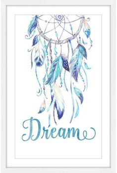 really pretty feathers - again without the writing Dream Catcher Painting, Dream Catcher Art, Dream Catcher Tattoo, Dream Catcher Watercolor, Painting Frames, Painting Prints, Dreamcatcher Wallpaper, Watercolor Dreamcatcher, Framed Canvas Prints