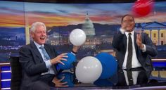 Bill Clinton Discusses Hillary's Health And Plays With Balloons On 'The Daily Show'